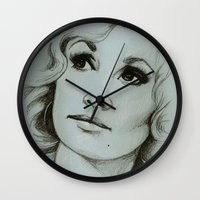 dolly parton Wall Clocks featuring Dolly Parton by Talula Christian