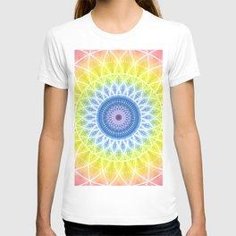 Rainbow Boho Mandala Flower T-shirt