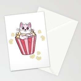 Kitty And Popcorn Stationery Cards