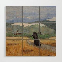 Pesta - a painting of the Plague Wood Wall Art