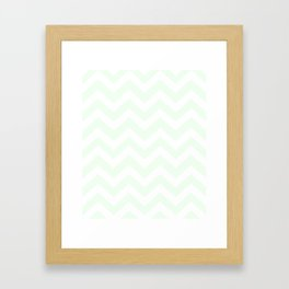 Honeydew - heavenly color - Zigzag Chevron Pattern Framed Art Print