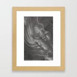 Pantone Pewter Gray Flowing Pearlescent Haze, Opalescent Fluid Art Framed Art Print