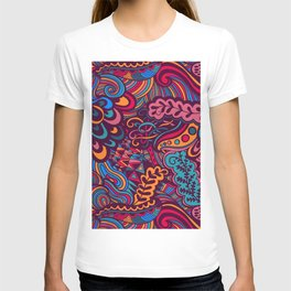 curly waves design T-shirt