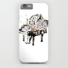 Piano, vintage watercolor piano Slim Case iPhone 6s