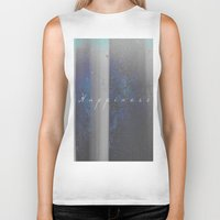 happiness Biker Tanks featuring Happiness by Jane Lacey Smith