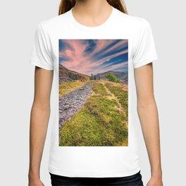 Quarry Sunset Snowdonia T-shirt