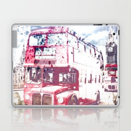 City-Art LONDON Red Buses on Westminster Bridge Laptop & iPad Skin