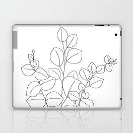 Minimalistic Eucalyptus  Line Art Laptop & iPad Skin