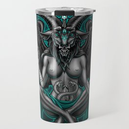 Baphomet (Teal) Travel Mug