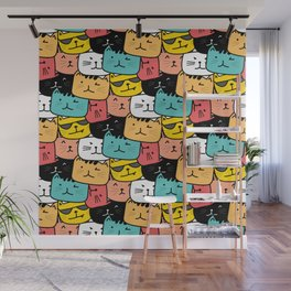 Cats Cats Everywhere Wall Mural