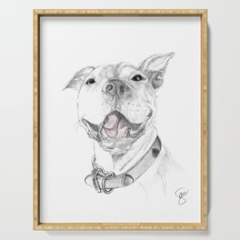 A Smile is Worth a Thousand Words :: A Pit Bull Smile Serving Tray