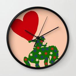 STEVEN DANA YEEEE HAWWW Wall Clock