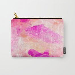 splash painting texture abstract background in pink Carry-All Pouch