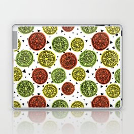 Orange Lemon Lime Citrus Surface Pattern Design Laptop & iPad Skin