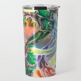 Wooden Bird of Paradise  Travel Mug