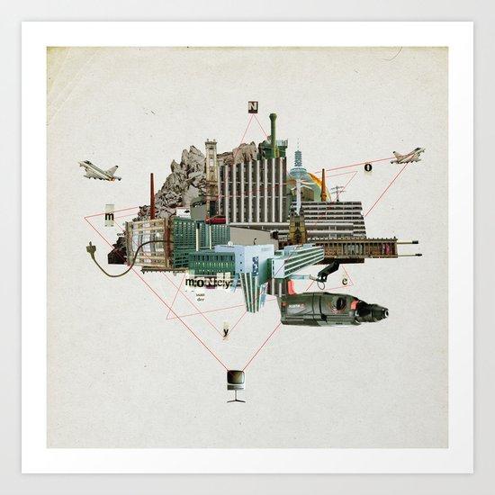 Collage City Mix 2 Art Print