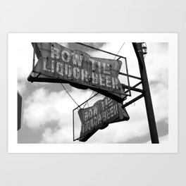 Bow Tie Sign Art Print