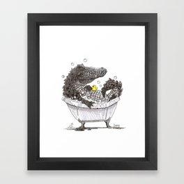 Bubble Bath (Pen & Ink) Framed Art Print