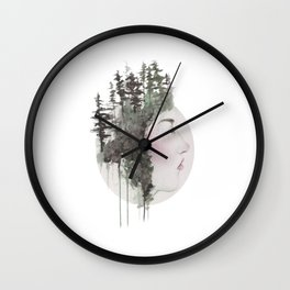 """""""Sometimes, even the snow is sad."""" Wall Clock"""