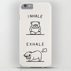 Inhale Exhale English Bulldog Slim Case iPhone 6 Plus