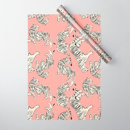 Pink Tiger Pattern 006 Wrapping Paper