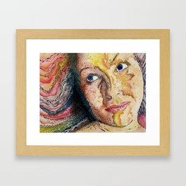 Rainbow World Girl Society Remix Framed Art Print