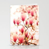 cherry blossoms Stationery Cards featuring Cherry Blossoms by Vivienne Gucwa