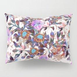 Beautiful watercolor flowers. Blue morning filed Pillow Sham