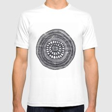 circle Mens Fitted Tee MEDIUM White