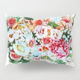 Rose Flower Bouquet Watercolor Pillow Sham