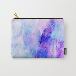 Hand painted blush pink teal blue watercolor brushstrokes Carry-All Pouch