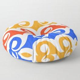 Abstract Waves ~ Pop Art Palette Floor Pillow