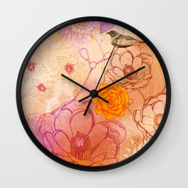 Desert Rose Blush Wall Clock