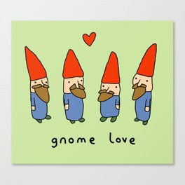 Gnome Love Canvas Print
