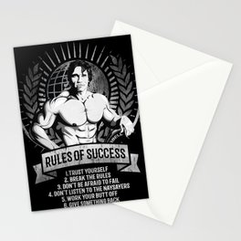 Gym Fitness Motivation Success Rules Bodybuilding Stationery Cards