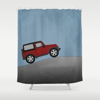 jeep Shower Curtains featuring Jeep Jeep by rochaStuff