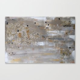 Silver and Gold Abstract Canvas Print