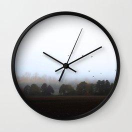 MISTY OCTOBER DAY-VIa Wall Clock