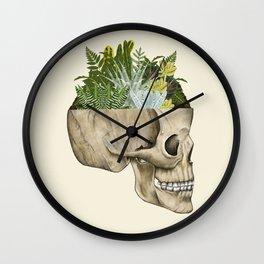 Terrarium Skull Wall Clock