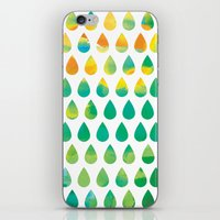 rain iPhone & iPod Skins featuring Monsoon Rain by Picomodi