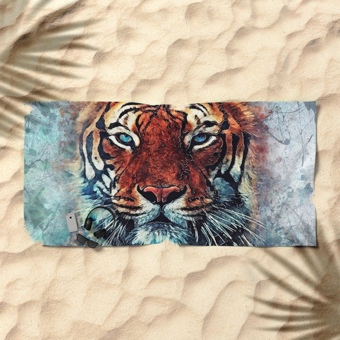 Tiger spirit Beach Towel