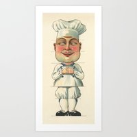 chef Art Prints featuring French Chef by Connie Goldman