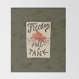 Freedom biker print Throw Blanket