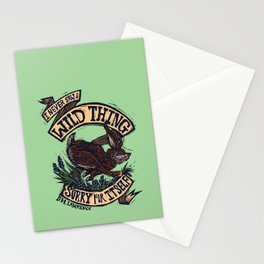 Wild Thing, I Think I Love You Stationery Cards