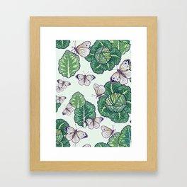 butterflies in the garden Framed Art Print