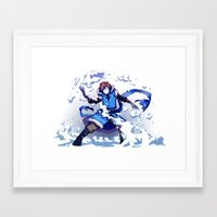 cryaotic Framed Art Prints featuring Snow Bender Cryaotic by Gabbi
