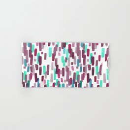 Burgundy and Teal Abstract Watercolor Hand & Bath Towel
