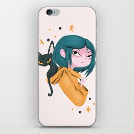 Twitchy, Witchy Girl iPhone Skin