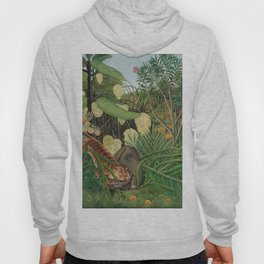 Fight between a Tiger and a Buffalo, Henri Rousseau, 1908 Hoody