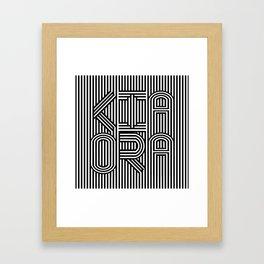 KiaOra New Zealand Greeting (Square) Framed Art Print